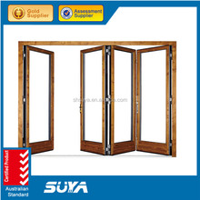 Australia standard aluminium sliding bi-folding door with double glass