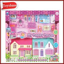 Plastic Doll House Villa+Furniture
