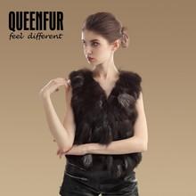 2015 Women Genuine Fox Fur Vest Natural Silver Fox Fur Waistcoat Warm Winter Fox Fur Gilet Top Sale