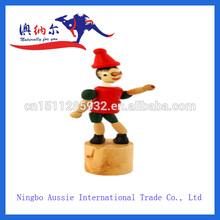 la mejor calidad de madera de payaso push up juguetes con un diseño hermoso