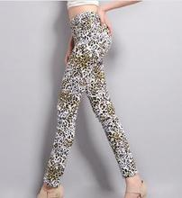 Z70874A KOREAN STYLE FASHION LEOPARD PRINTED WOMEN JEANS