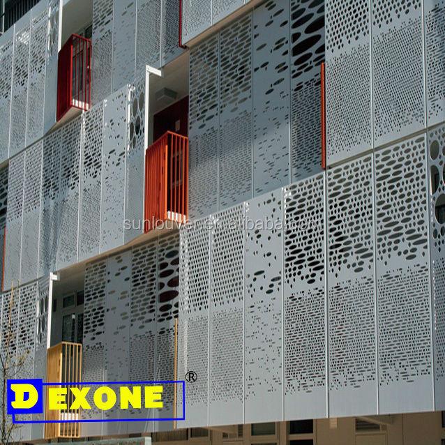 Metal aluminium perforated engraved laser cut decorative