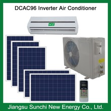 Low price 100% solar powered air conditioner with 8 PCS solar panel