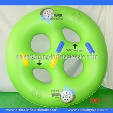 Best selling green inflatable four people swimming ring ,big swiming ring