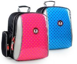 OEM design children fancy school bag/polyester kids backpack school bag