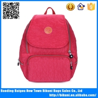 Wholesales pink ribbon nylon waterproof outdoor solar backpack