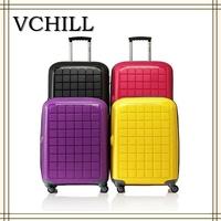 4 Wheels PC Cheap trolley hard case luggage