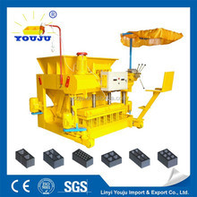 Solid brick hollow brick color hollow block road edge stone qmy6-25 concrete hollow blockstone making machine