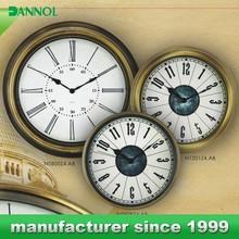 China supplier arts and craft decorative wrought iron wall clock themes