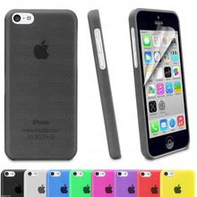 Hot selling Hard Colorful Transparent Clear Cell Phone Case for iPhone 5C Glossy Case