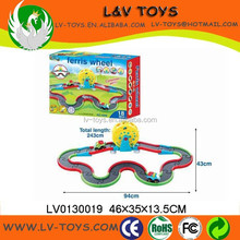LV0130019 B/O car for toys parking lot with light music