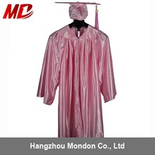 Beautiful 12 color Shiny Graduation Gowns and Caps for kids