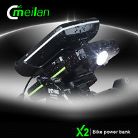 Bike Power bank generators dynomo bicycle light sets Meilan X2 usb rechargable bike phone mount holder cycle accessories