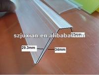 Custom shelf extrusion profile for supermarket