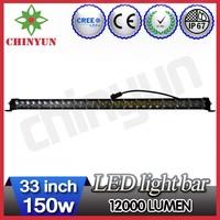 150w 4x4 CREE led light bars for trucks 33inch ip67 waterproof car roof fixed mount brackets