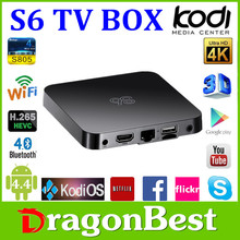 Newest S6 Android 4.4 TV Box XBMC Kodi 14.2 S805 1G Ram 8G Rom WiFi Set Top Box Quad Core Iptv Arabic