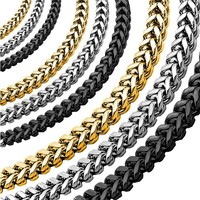 Yiwu Aceon Gold Plated Thick Franco Link Chain men stainless steel necklace