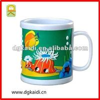 Newest 3D personalized plastic mug for kids