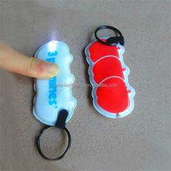 led gift items custom pvc mini flat led flashlight for promotional gifts