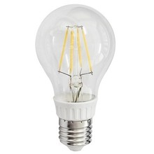 6W E27 Base Holder A60 Shape 2700K Warm White LED Filament Bulb 5pcs one lot