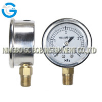 High quality stainless steel brass internal lpg pressure gauge