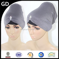 GDHH0008 2015 new style monochrome thin with diamond wholesale muslim woman accessories head scarf