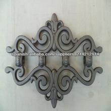 Piezas de hierro fundido hierro ornamental, ornamentos, verja de hierro forjado de piezas