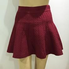 2015 femme nouvelle jupe plissée couleur pure, Mode super mini jupe