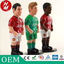 Wholesale football game toy,plastic football player figurine OEM