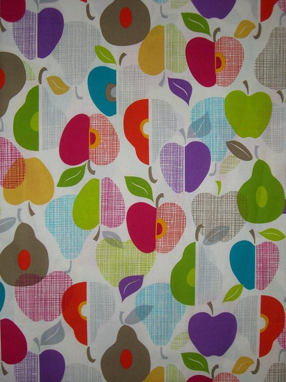 100% Cotton Multi Color Apple Print