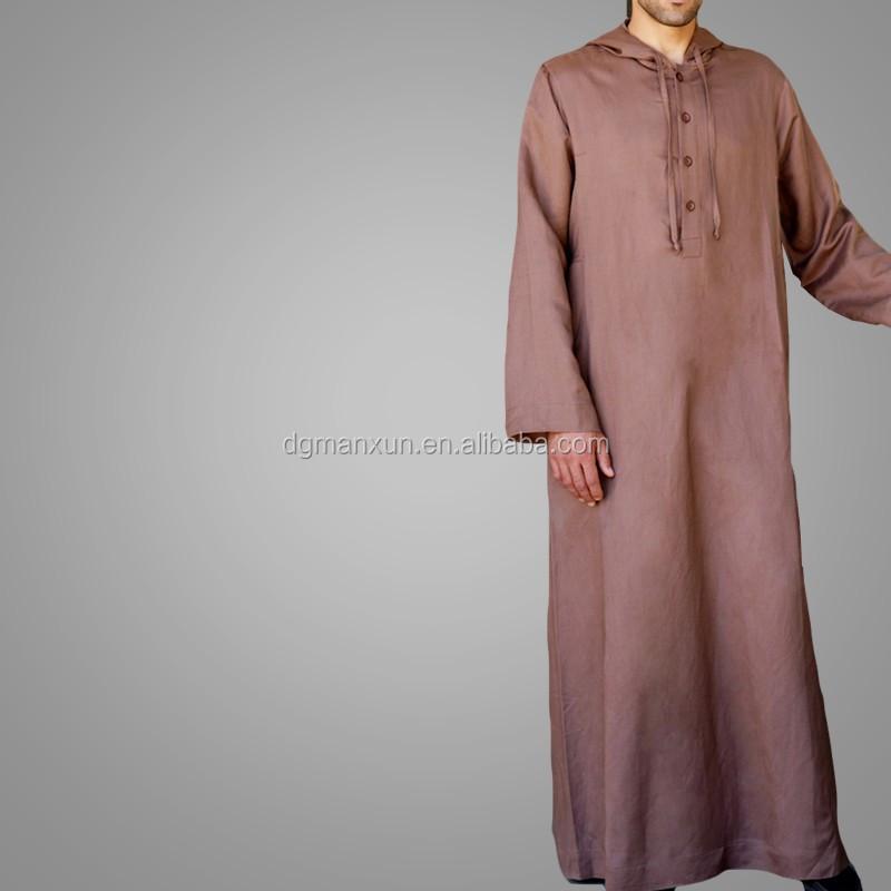 High Quality Daffah Thobe Arabian Robe Saudi Style Muslim Clothing For Men Arabic Thobe Jubbah3.jpg