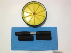 Brand New Dual Wheel Ab Roller with Mat for Gym Abdominal Exercise Fitness Equipment Color