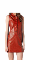 2015 FASHION STYLISH GOTHIC SLEEVELESS MINI FORMAL PATTERN LEATHER DRESS