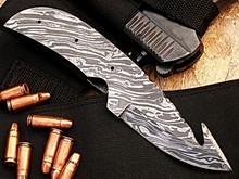York Vivant-Custom Handmade Damascus Blank Blade Skinner/Hunting Knife YV-NA9 Full Tang, Damascus Steel Handle