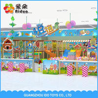 2015 guangzhou factory Kid soft play zone steel strucher Kindergarten sand pit playground 455sqm