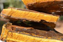 Tiger's Eye Yellow rough semi precious gemstone
