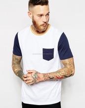Soft-touch jersey , chest pocket, Fashion cotton Tshirt