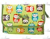 Lovely Cute Travel Cosmetic Makeup Bag Case with Mirror, Owl Print
