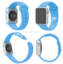 Colorful Rubber Watch Band Watch Strap Belt Sport Adjustment Bracelet Fitness Replacement Wrist With Metal Part For Apple Watch