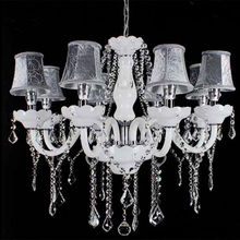 new style gold dining room modern crystal chandelier with elegant lampshade