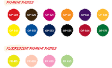 Textile Screen Printing Water Based Pigment Inks