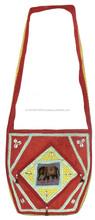 Ladies fashion organic cotton cosmetic bag