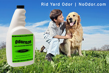 ODOREZE Natural Yard & Concrete Odor Eliminator Spray: Makes 64 Gal. to Stop Waste Stench