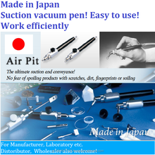 Japanese convenient Push & release sucking pen to pick micro parts, small flat glass plate etc. as laboratory equipement