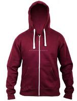 2015 new high quality comfort blank zipper cotton wholesale bodybuilding hoodie