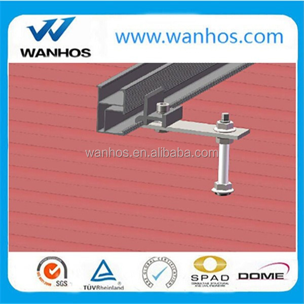 Solar bracket accessories L feet for tin roof