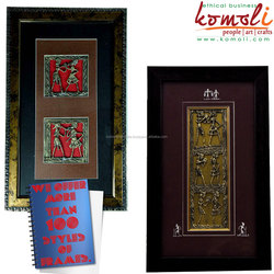 Bell Metal Alloy Framed Wall Decorative - Dhokra Jali Frames - Wall Hangings - Home Decor