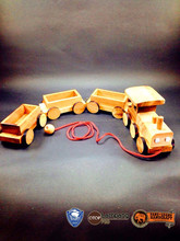 Wooden puzzle mini train wooden toys