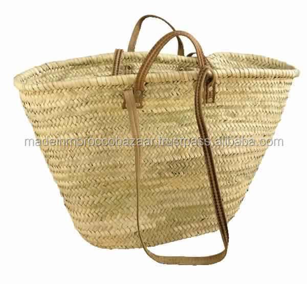 Handmade Market Baskets : Handmade french market straw basket