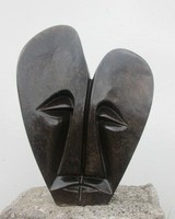 Afrocentric modern decorative design Lovers abstract sculptures